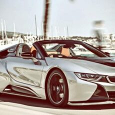 BMW i8 roadster full splitter body kit NIA Auto Design rear spats side skirts blades front