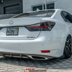 lexus gs350 rear lip spat nia sleek splitter diffuser